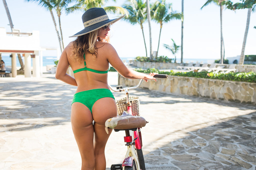 Boyshort Bikini Bottoms - Kelly / Kermit Green