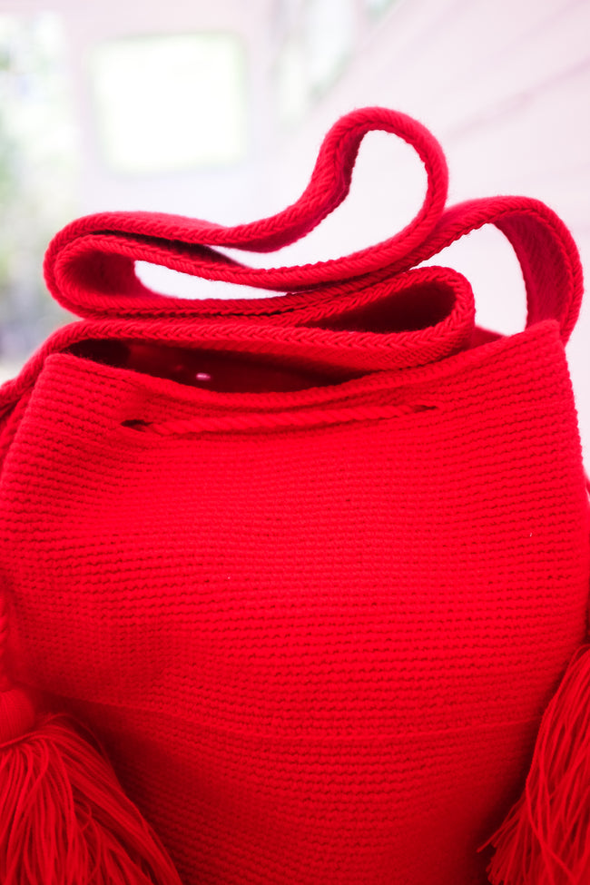 Taro Bag in Ruby Red