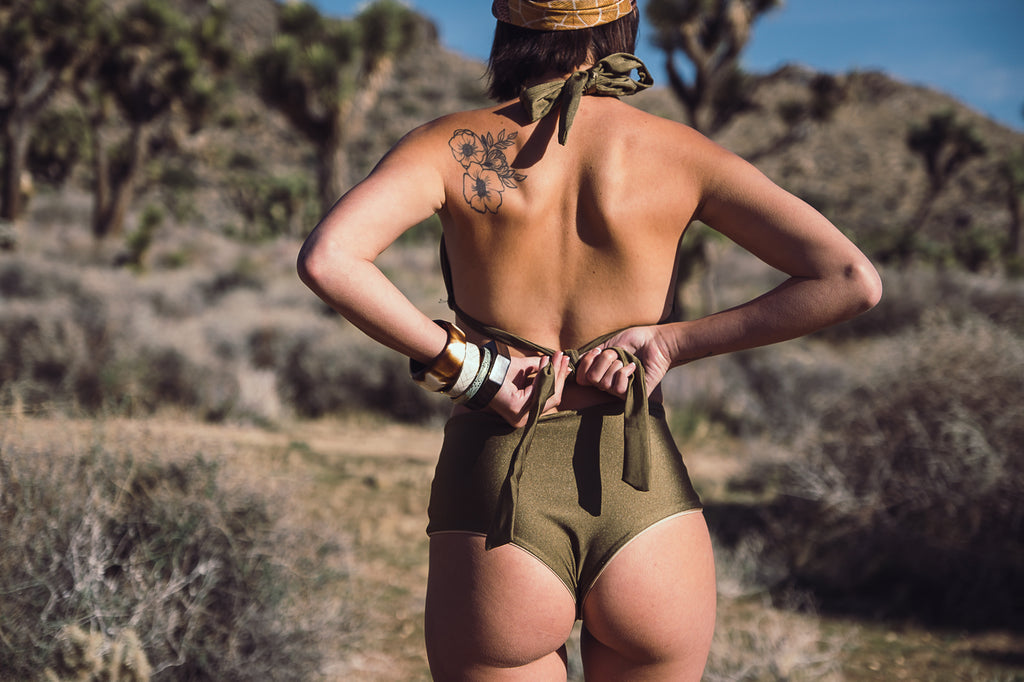 Caliente Bottoms in Olive