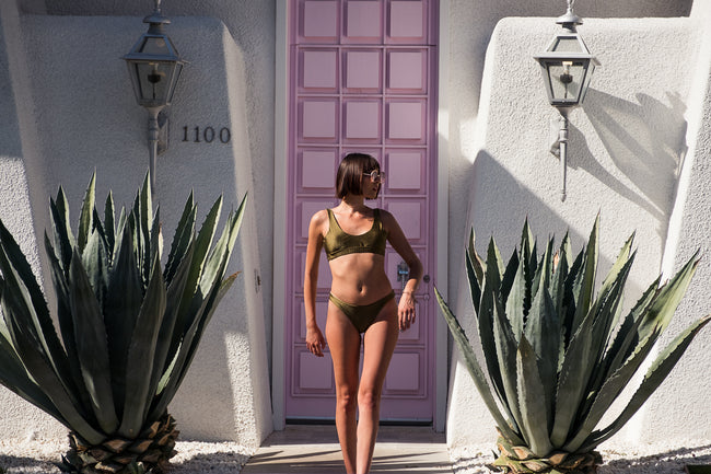 Ace Bikini Bottoms in Olive