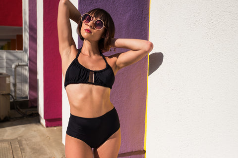 Volleyball Bikini Bottoms - Black / Wine
