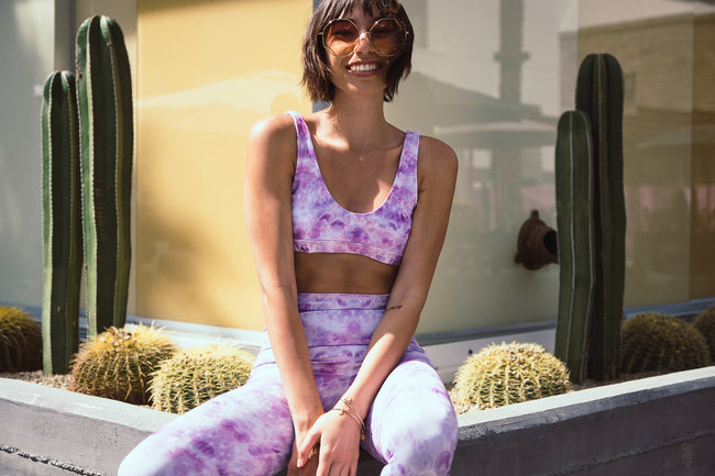 The Tennis Club Top in La-La Lavender