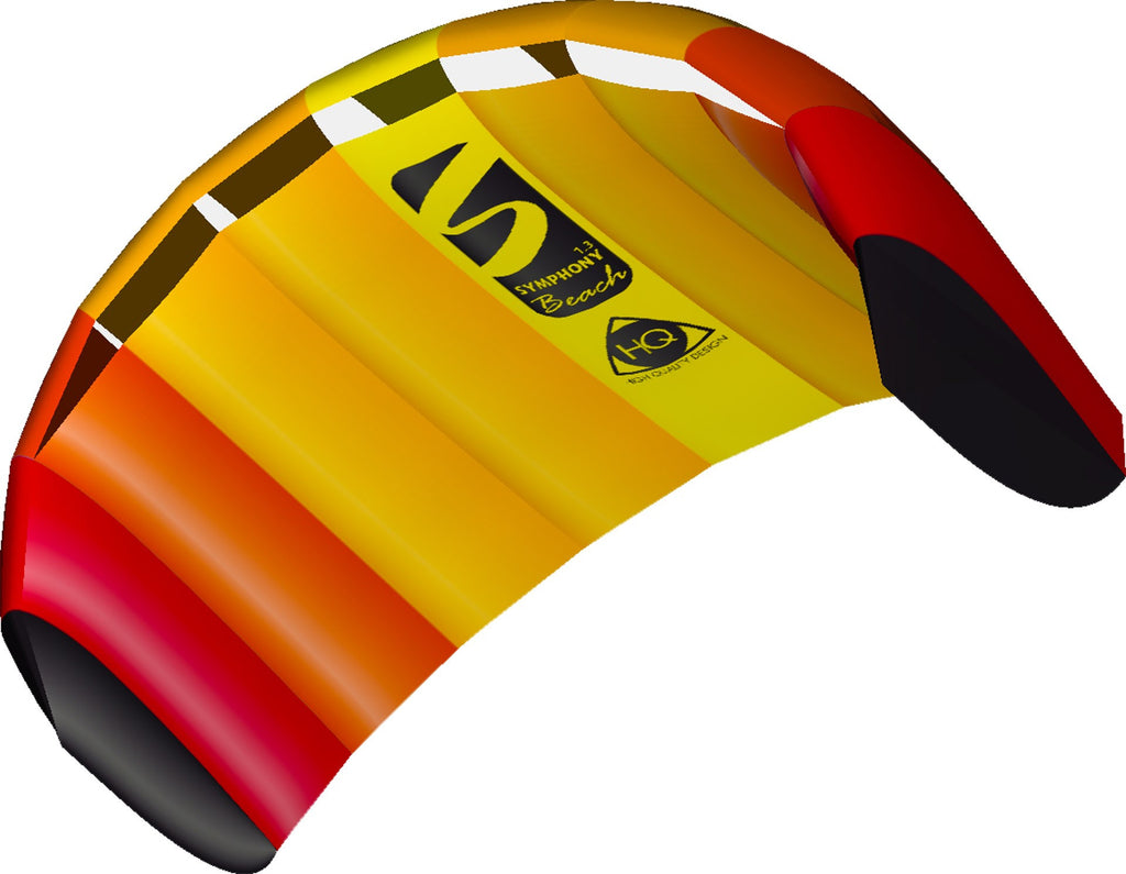 HQ Symphony Beach 1.3M Power Kite - Mango - SKY HIGH KITES - 1