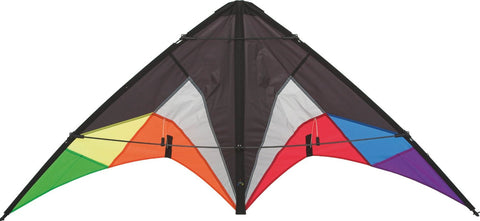 HQ Quickstep II Black Rainbow Stunt Kite - SKY HIGH KITES