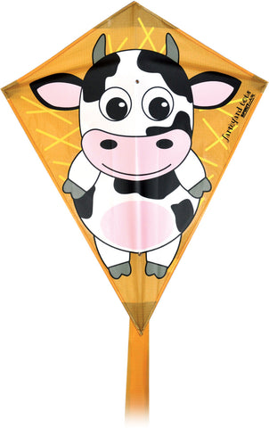 Farmyard Tots Diamond Kite - Cow - SKY HIGH KITES