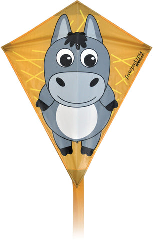 Farmyard Tots Diamond Kite - Donkey - SKY HIGH KITES