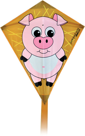 Farmyard Tots Diamond Kite - Pig - SKY HIGH KITES