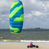 Peter Lynn Hornet 4 - Traction Kite with Bars 6.0m -Teal / Lime
