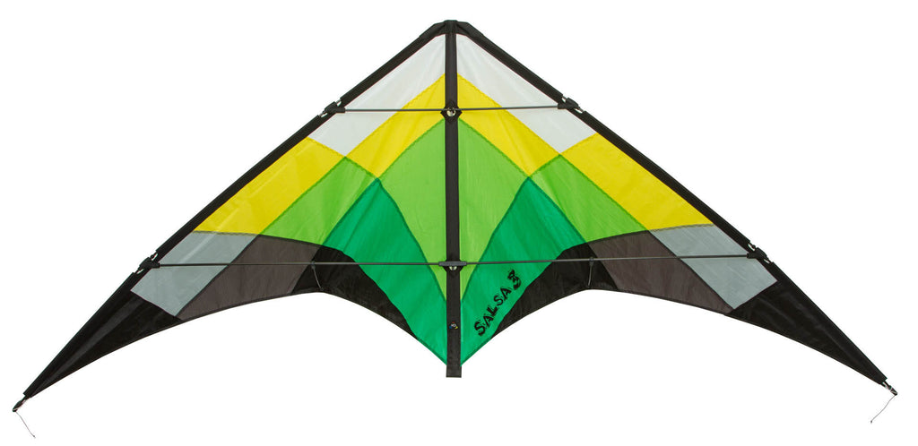 HQ Salsa III Stunt Kite - Jungle - SKY HIGH KITES