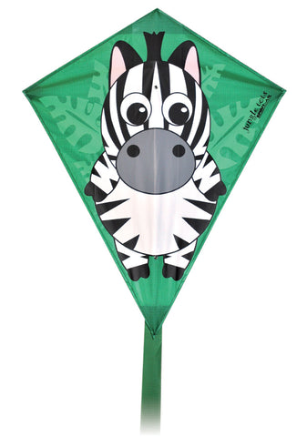 Jungle Tots Diamond Kite - Zebra - SKY HIGH KITES