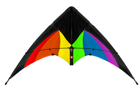 EOLO PopUp Kite Stunt Magic Black Rainbow Duel Line