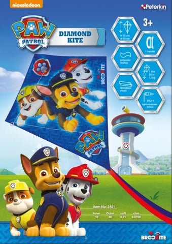 Paw Patrol Chase Rubble & Marshall Diamond Kite - SKY HIGH KITES