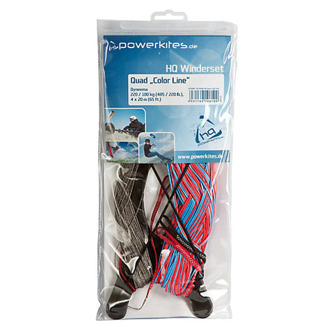 HQ Dyneema Quad Line Set 220/100kg 4X20M - SKY HIGH KITES