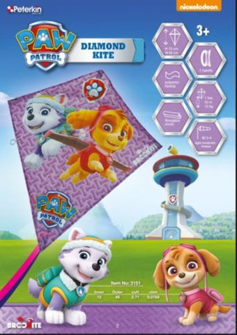 Paw Patrol Skye & Everest Diamond Kite Brookite - SKY HIGH KITES