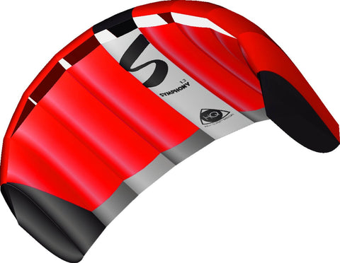 HQ Symphony Pro 1.3m Neon Red Power Kite - SKY HIGH KITES
