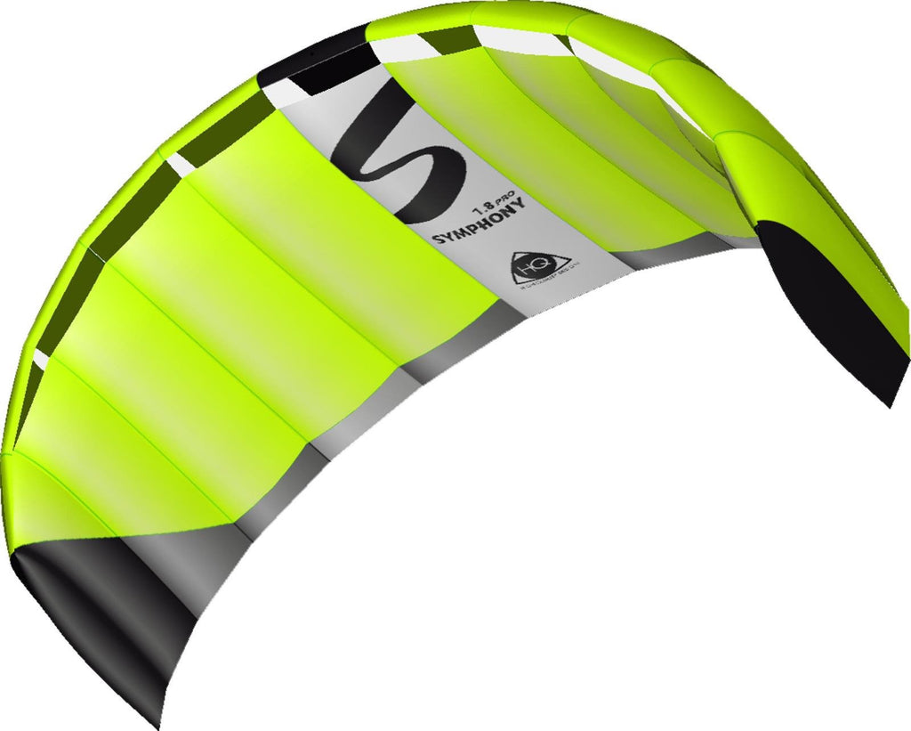 HQ Symphony Pro 1.8m Neon Green Power Kite - SKY HIGH KITES