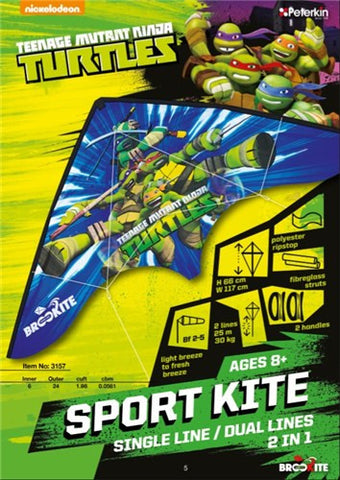 Teenage Mutant Ninja Turtles - Sports Kite-Single/Dual Lines - SKY HIGH KITES