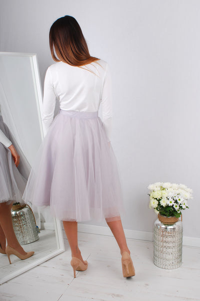 MOLLY TULLE SKIRT GREY