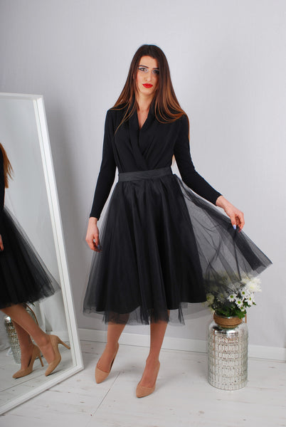MOLLY TULLE SKIRT BLACK