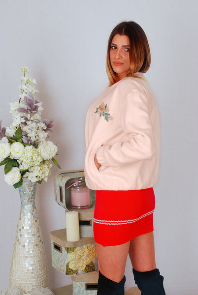 ELZA CREAM 3D FLOWER BOMBER