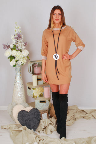 Copy of BETH MOCHA  DRESS