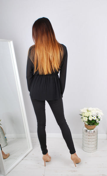 LACE BLACK BLOUSE