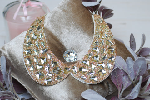 Gold Collar with diamonds