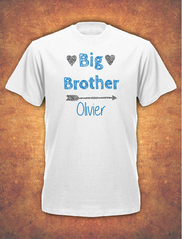 Personalised Big Brother Birthday Present Gift baby Children's T-shirt kids