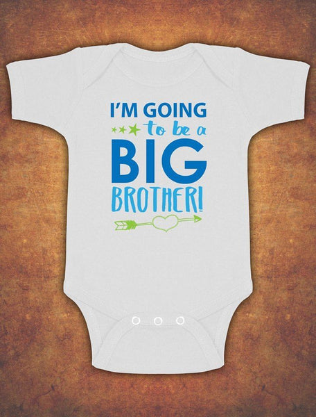 I'm going to be a Big Brother Cute Baby Kids Preset Grow Body Suit Vest Boy II