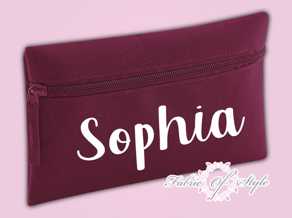 Personalised Pencil Case Kids Office Stationery Back To School Zip School Bag