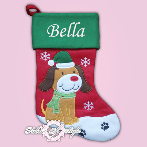 Personalised Dog Cat Luxury Embroidered Xmas  Stocking Christmas 2020