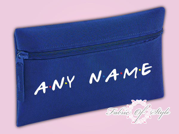 Personalised Friends Gift Pencil Case Christmas Kids Stationery Zip School Bag