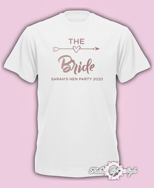 Size Plus & Curve Hen Do Party Bride Tribe Personalised T-shirt Ladies hen party wedding - Rose Gold