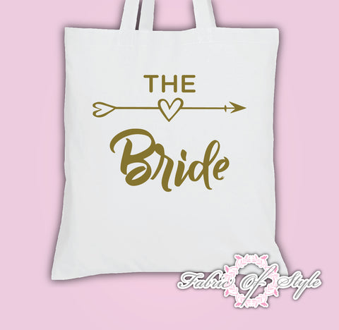 Hen Do Party Bride Tribe  Ladies Tote Bags Gold