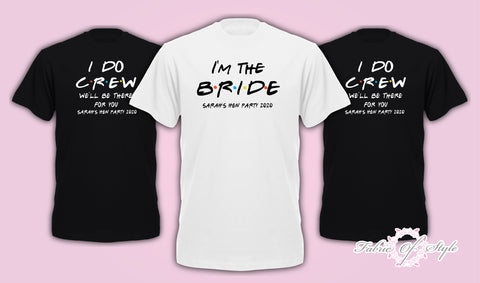Size Plus & Curve Friends I do Crew Hen Do Party Bride Tribe T-shirt Ladies hen party wedding