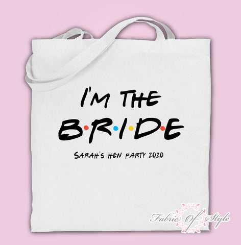 Friends I do Crew Hen Do Party Bride Tribe Custom Personalised Ladies Tote Bags