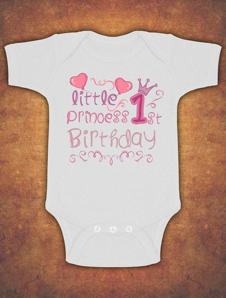 Little Princess First 1st Birthday Cute Baby Kids Present Grow Body Vest Girl