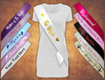 Personalised Hen Party Stag Birthday Sash Sashes Any Age Girl Party Bride