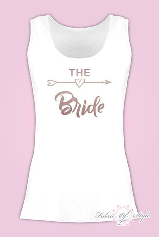 Vest Tank Top Hen Do Party Bride Tribe Wedding T-shirt Ladies Female Rose Gold
