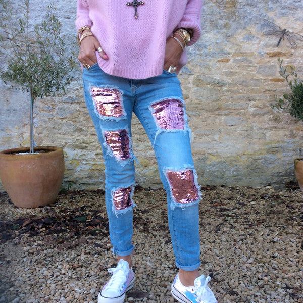 Distressed Washed-Out Jayden Jeans