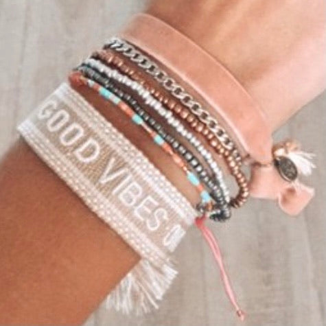 Good Vibes Only Woven Bracelet