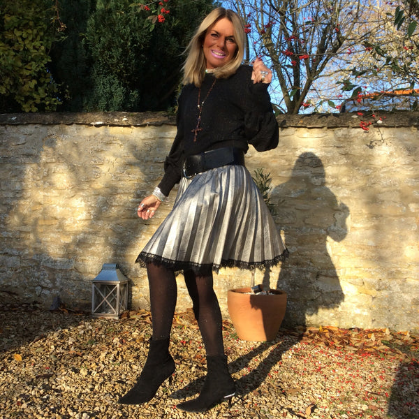 Melissa Faux Leather Skirt