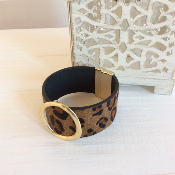 Leopard Cuff Brown