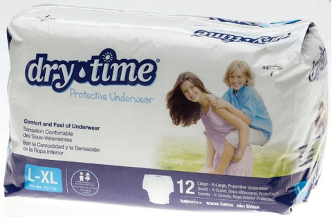 DryTime Disposable Protective Youth Underwear. Large/XLarge