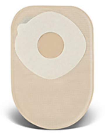 "ActiveLife One-Piece Closed Pouch, 1-3/4"" Stoma Pre-Cut, 8"" Length, Filter, Opaque"