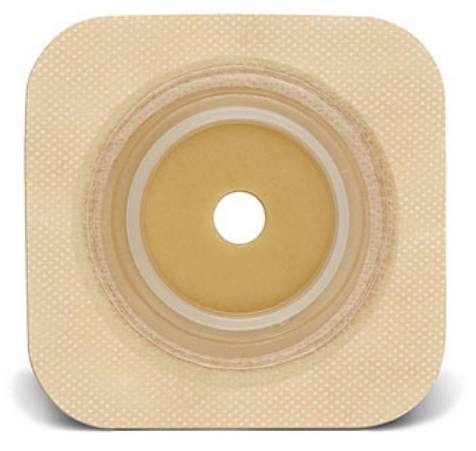 "Sur-Fit Natura® Durahesive™ 2-Piece Colostomy Barrier, Tan Tape, 2-1/4"" Flange, Hydrocolloid, 1-3/8 to 1-3/4"" Stoma"