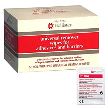 Hollister 7760 Adhesive & Barrier Remover Wipes