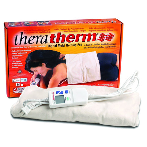 "Theratherm Digital Moist Heating Pad(Neck/Shoulder), 23"" x 20"""