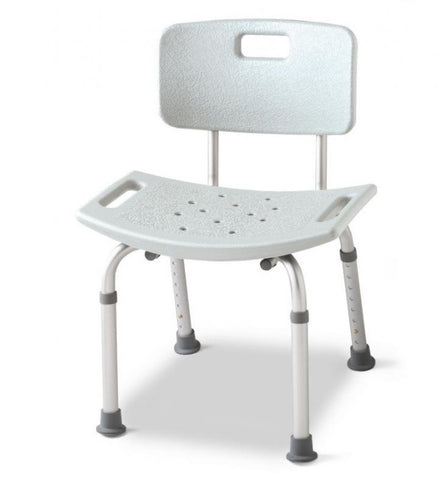 Aluminum Shower/Bath Bench with Back