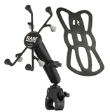 "RAM Sm. Base-Double Socket Arm & Cradle - 7"" Tablets"